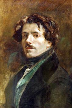 EUGENE DELACROIX (French): Self-portrait, 1837. Musée du Louvre, Paris, France