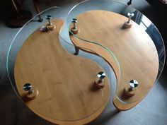 wood and glass yin yang coffee table | yin yang, coffee and woods