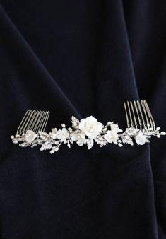 VERSE floral bridal hair comb 11