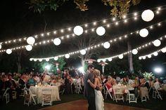 Lighting over dance floor