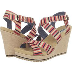 Dr. Scholl's Multi Stripe wedges with tread on the bottom - they look comfortable
