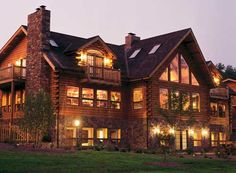 Magnificent log house
