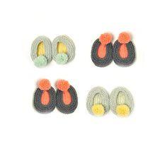 Hand Knitted Baby Booties in British Alpaca Wool
