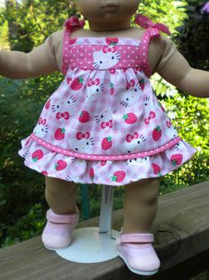 Bitty Baby or other 16 inch doll sundress by mydollyscloset1