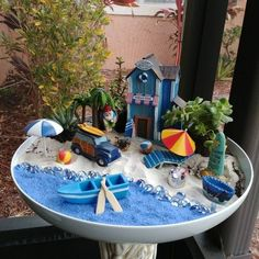 33 amazing miniature fairy garden ideas 16 is part of Beach fairy garden - 33 amazing miniature fairy garden ideas 16 Fairy Garden Pots, Beach Fairy Garden, Indoor Fairy Gardens, Fairy Garden Houses, Miniature Fairy Gardens, Fairy Gardening, Gnome Garden, Garden Crafts, Garden Projects