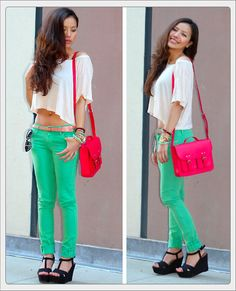Spring hues♥ (by Leah  Ho) http://lookbook.nu/look/3182267-Spring-hues
