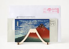 Flat Pack Mt.Fuji Letter Stand by tokyocraftstudios on Etsy