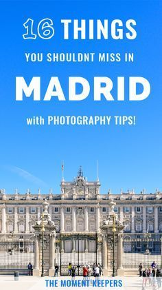 16 Things You Shouldn't Miss in Madrid (w/ Photography Tips This guide is divided into: top attractions, markets, plazas/squares and must try food. Cool Places To Visit, Places To Travel, Travel Destinations, Malaga, Photography Tips, Travel Photography, Wedding Photography, Madrid Travel, Barcelona