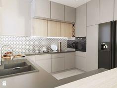 Średnia otwarta kuchnia w kształcie litery g z wyspą, styl klasyczny - zdjęcie od FOORMA Pracownia Architektury Wnętrz