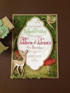 Enchanted Forest Woodland Theme Invitation by GeminiCelebrations Mais