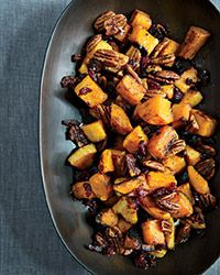 roasted butternut squash and spiced pecans