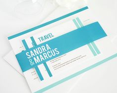 Modern Wedding Invitations in Teal Blue   #modernwedding #tealblue #aquamarine