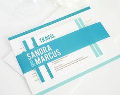 Modern Wedding Invitations in Teal Blue   #modernwedding #tealblue #aquamarine