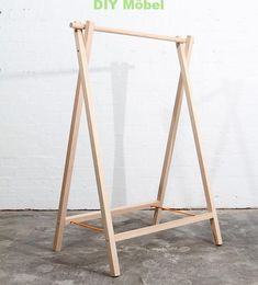 32 ideas clothes hanger diy hanging racks room ideas for 2019 Hanging Clothes Racks, Clothes Drying Racks, Hanging Racks, Diy Hanging, Diy Clothes Hanger Rack, Folding Clothes Rack, Bar Clothes, Diy Rack, Clothes Rail