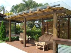 12 Pergola Patio Ideas that are perfect for garden lovers! Pergola Alu, Pergola Garden, Backyard Patio, Outdoor Rooms, Outdoor Living, Outdoor Decor, Gazebos, Shade Structure, Patio Seating