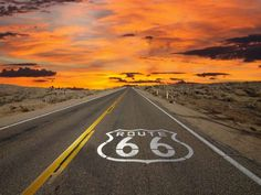 Route 66 - this looks like a stretch out-side of Winslow or Holbrook AZ