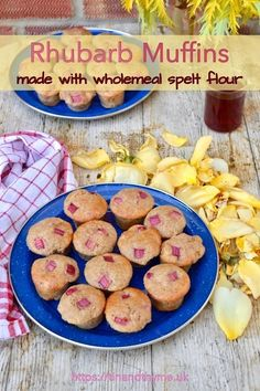 Mini spelt rhubarb muffins made with wholemeal spelt flour. Super easy to make, fluffy, soft with little bursts of tart rhubarb. Perfect for parties and picnics. Easy To Make Breakfast, Best Breakfast, Breakfast Recipes, Dessert Recipes, Breakfast Ideas, Strawberry Muffin Recipes, Healthy Muffin Recipes, Rhubarb Recipes, Rhubarb Muffins
