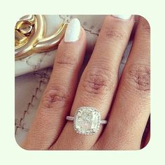 If I were to do a diamond ring with a diamond halo around it, this is what I would want it to look like