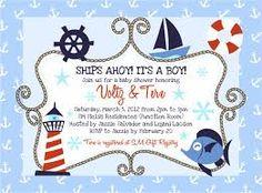 Resultado de imagen para nautical baby shower