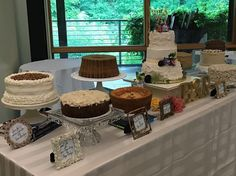 Family cake & pie recipes on display! Congratulations Rachel & Benjamin! #cateringworks