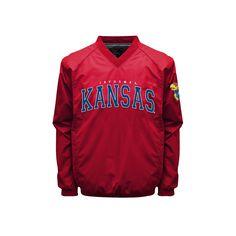 Men's Franchise Club Kansas Jayhawks Coach Windshell Jacket, Size: Medium, Red