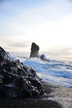 Iceland black rock