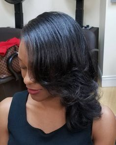 The Top 114 New Shoulder Length Hairstyles & Haircuts to Try This Year 2019 - Hair Styles Hairstyles Haircuts, Hairstyles With Bangs, Straight Hairstyles, Black Hairstyles, Natural Hairstyles, Bangs With Medium Hair, Medium Hair Styles, Hair Color Purple, African American Hairstyles