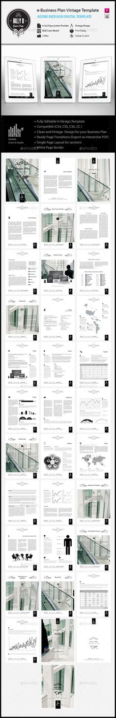 Business Plan Executive Summary By Keboto On Creativemarket - E business plan template