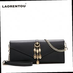 43.00$  Buy here - http://ali875.worldwells.pw/go.php?t=32787514128 - Laorentou Luxury Cowhide Leather Women Messenger Bag Casual Clutch Women Envelope Shoulder Bag Leather Female Crossbody Bag N50
