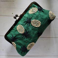 pineapple pouch, Yumiko Higuchi. So cute!