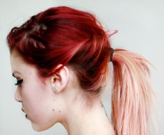 red and blonde ombre