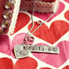 Metal stamping is a great way to make unique and special DIY jewelry pieces. This Metal Stamping DIY Pendant makes a stunning gift for so many occasions. These homemade pendants are cute for sweethearts during Valentine's Day.