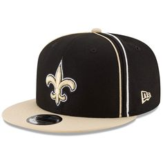 fd51a88fe Men s New Orleans Saints New Era Black Gold Y2K Team Soutache 9FIFTY  Adjustable Snapback Hat
