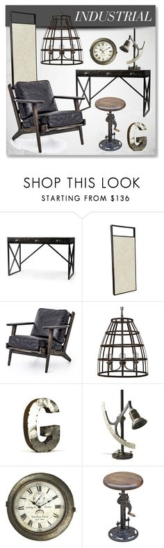"""""""Industrial Loft"""" by kathykuohome on Polyvore featuring interior, interiors, interior design, home, home decor, interior decorating, Home, industrial, homedecor and homedesign"""