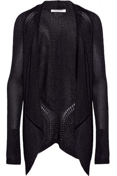 Faith Connexion Draped open-knit cardigan - 66% Off Now at THE OUTNET