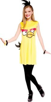 Girls Yellow Angry Birds Costume