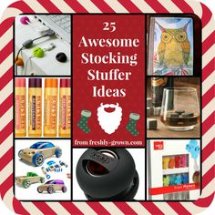 25 Awesome Stocking Stuffer Ideas {from Freshly Grown} #christmas #gifts