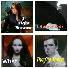 I fight because I remember what they've taken - The Hunger Games - Everlark Katniss Everdeen