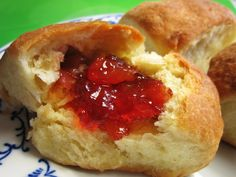 Buchty with cherry filling
