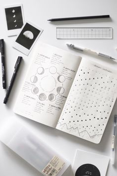 Post sobre calendário lunar no bullet journal. Blog Serendipity por Melina Souza  #bulletjournal #lunarcalendar #calendariolunar #stationery