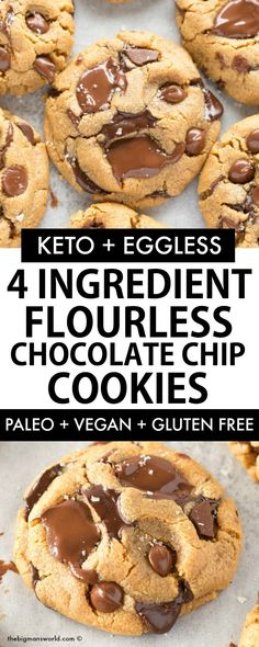 A fool-proof and easy recipe for flourless cashew butter cookies using just 3 ingredients and completely eggless! Naturally low carb, sugar free and keto friendly, these soft and chewy flourless cookies take 12 minutes to whip up! Keto Cookies, Sugar Free Cookies, Sugar Free Desserts, Healthy Cookies, Low Carb Desserts, Vegan Desserts, Low Carb Recipes, Sugar Free Meals, Flourless Chocolate Chip Cookies