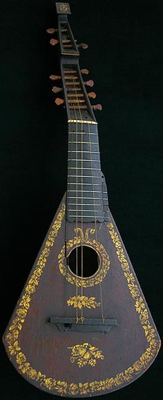 Antique Harp Lute Guitar by Barry from England 1799. Sold by Edward Light. Fernando Sor was in England when these were played.
