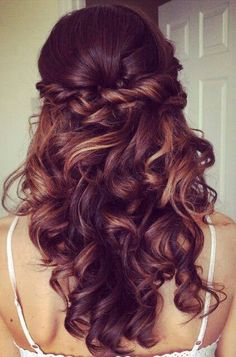 Another wedding hair style possibility! Hair down??