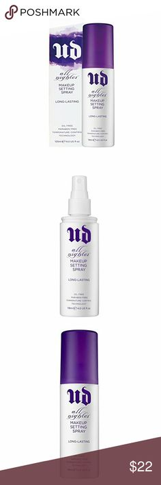 BNIB Urban Decay All Nighter Makeup Setting Spray Brand New in Box Urban Decay's High Rated, Long Lasting Makeup Setting Spray 4oz. Urban Decay Makeup Brushes & Tools