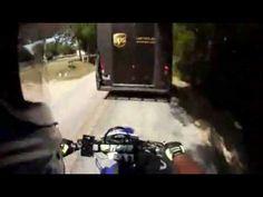Biker Faceplants Into UPS Truck Video - Motorcycle Accident