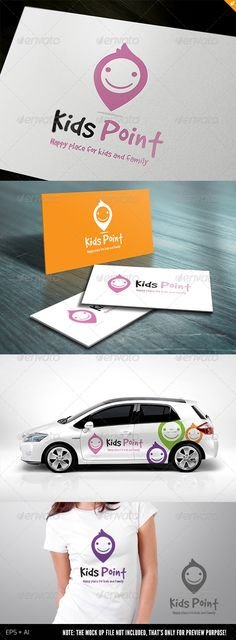 Kids Point by LayerSky This logo design for all creative business. Consulting, Excellent logo,simple and unique concept. Logo Template FeaturesAI and EPS Logo Design Template, Logo Templates, Branding, Logo Web, Inspiration Logo Design, It's A Boy Announcement, Photoshop Shapes, Adobe Photoshop, Illustrator