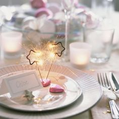 Getting creative with sparklers & place settings