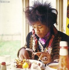 jimi just awesomely eating some awesome breakfast in is awesomeness