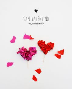 DIY paper heart San Valentino - by ParisFamily -