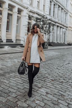 Grey and camel - Flaunt and Center Rome Outfits, Paris Outfits, Winter Fashion Outfits, Fall Winter Outfits, Autumn Fashion, Cute Casual Outfits, Chic Outfits, Estilo Meghan Markle, Polene Paris